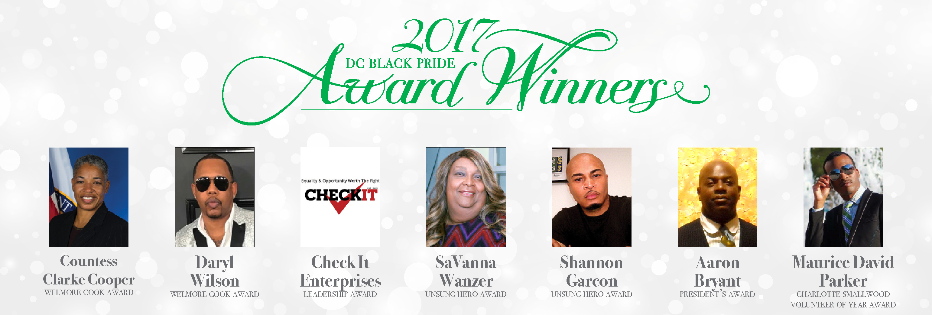 DC Black Pride Award Winners