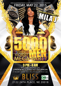 Annual 5000 Men Pride Mega Party