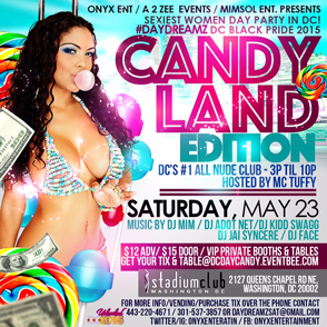 "Sexiest Day Party in DC ""Candyland"""