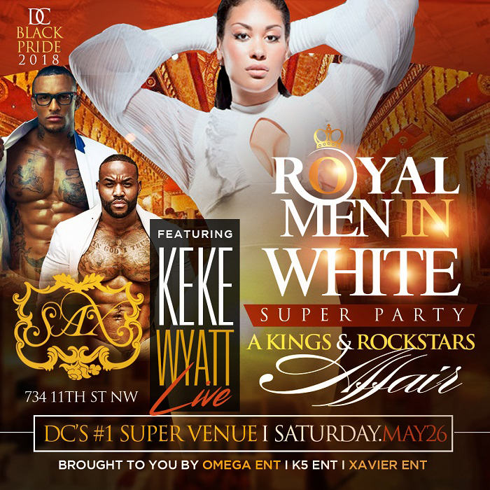 Royal Men In White Super Party